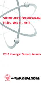 SILENT AUCTION PROGRAM Friday, May 11, 2012