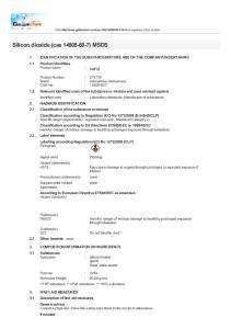 Silicon dioxide (cas ) MSDS