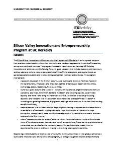 Silicon Valley Innovation and Entrepreneurship Program at UC Berkeley