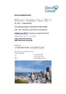 Silicon Valley Tour 2017 on Tour International
