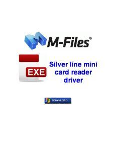 Silver line mini card reader driver
