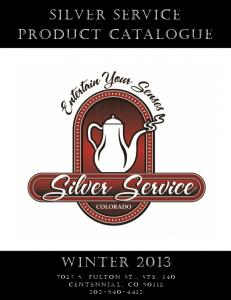 Silver Service product catalogue