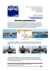 Silver Spray Angling Holidays 2014