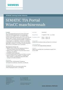 SIMATIC TIA Portal WinCC maschinennah