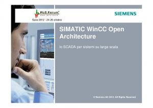 SIMATIC WinCC Open Architecture