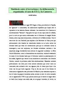 Simbiosis entre el terrorismo y la delincuencia organizada: el caso de ETA y la Camorra