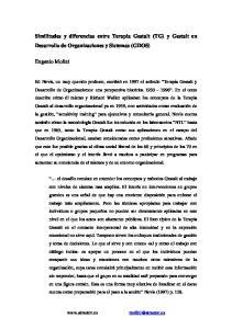 Similitudes y diferencias entre Terapia Gestalt (TG) y Gestalt en Desarrollo de Organizaciones y Sistemas (GDOS)