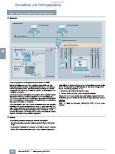 SIMIT: Simulation und virtuelle Inbetriebnahme