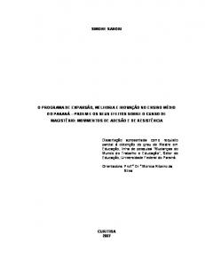 SIMONE SANDRI. Orientadora: Prof. a Dr. a Monica Ribeiro da Silva