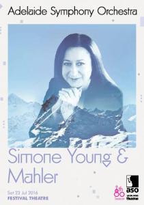 Simone Young & Mahler. Sat 23 Jul 2016 FESTIVAL THEATRE. Season