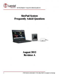 SimPad System Frequently Asked Questions