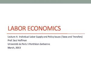 Simple Model of Individual Labor Supply
