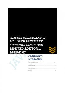 SIMPLE TRENDLINE JE NI...OLEH ULTIMATE SUPERDUPERTRADER LIMITED EDITION LUKPAYAT