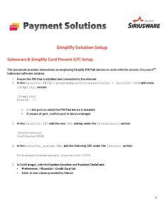 Simplify Solution Setup