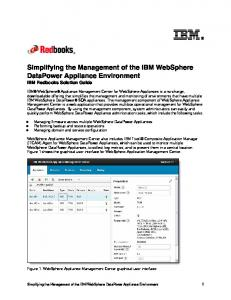 Simplifying the Management of the IBM WebSphere DataPower Appliance Environment IBM Redbooks Solution Guide