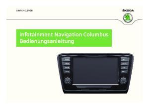 SIMPLY CLEVER. Infotainment Navigation Columbus Bedienungsanleitung