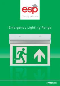 Simply reliable. Emergency Lighting Range