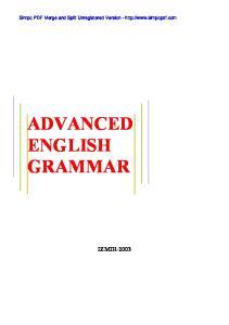Simpo PDF Merge and Split Unregistered Version -  ADVANCED ENGLISH GRAMMAR