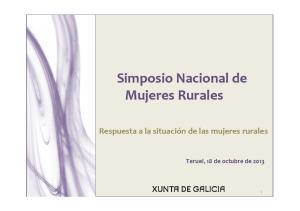 Simposio Nacional de Mujeres Rurales
