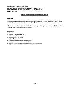 SIMULACION DE CIRCUITOS CON PSPICE