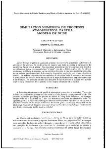 SIMULACION NUMERICA DE PROCESOS ATMOSFERICOS. PARTE 1: MODELO DE NUBE