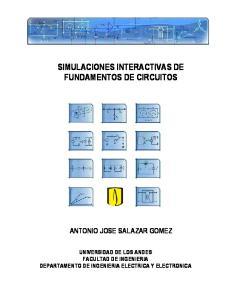 SIMULACIONES INTERACTIVAS DE FUNDAMENTOS DE CIRCUITOS