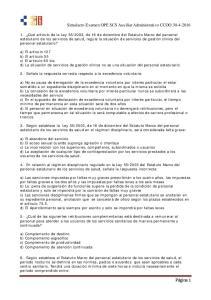 Simulacro Examen OPE SCS Auxiliar Administrativo CCOO