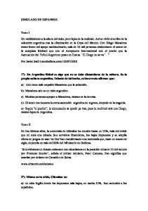 SIMULADO DE ESPANHOL. Texto I