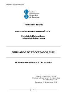 SIMULADOR DE PROCESADOR RISC