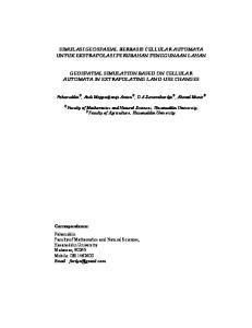 SIMULASI GEOSPASIAL BERBASIS CELLULAR AUTOMATA UNTUK EKSTRAPOLASI PERUBAHAN PENGGUNAAN LAHAN