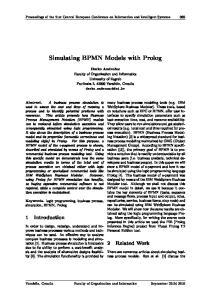 Simulating BPMN Models with Prolog