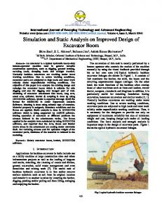 Simulation and Static Analysis on Improved Design of Excavator Boom