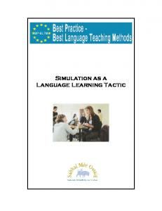 Simulation as a Language Learning Tactic