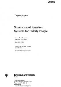 Simulation of Assistive Systems for Elderly People