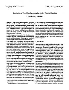 Simulation of Thin Film Delamination Under Thermal Loading