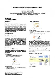 Simulation Of Three-Dimensional Technical Textiles
