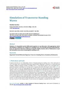 Simulation of Transverse Standing Waves