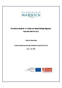 Simulation Study for a Transformer Based Voltage Regulator
