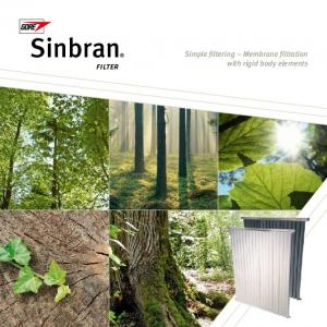 Sinbran. filter. Simple filtering Membrane filtration with rigid body elements