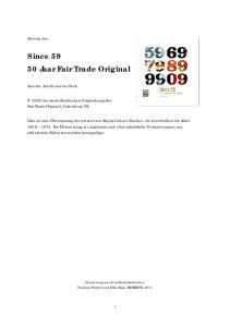 Since Jaar Fair Trade Original