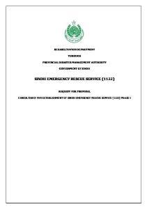 SINDH EMERGENCY RESCUE SERVICE (1122)