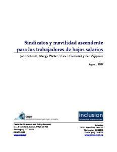 Sindicatos y movilidad ascendente para los trabajadores de bajos salarios