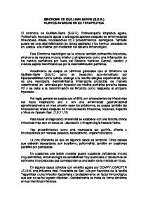 SINDROME DE GUILLIAIN-BARRE (S.G.B.) NUEVOS AVANCES EN SU TERAPEUTICA