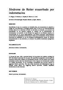 Síndrome de Reiter exacerbado por indometacina