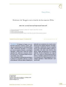 Síndrome de Sengers: comunicación de dos casos en Chile