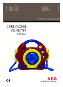 SING ALONG CD-PLAYER CDK 4229