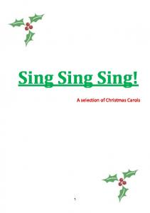 Sing Sing Sing! A selection of Christmas Carols