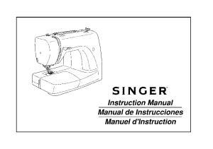 SINGER. Instruction Manual Manual de Instrucciones Manuel d'lnstruction