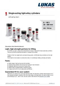 Single-acting light-alloy cylinders
