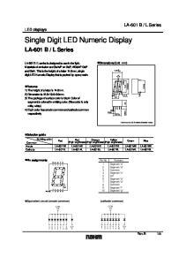 Single Digit LED Numeric Display